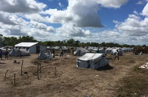 Camp in Mozambique